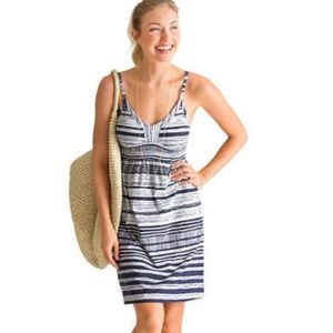 Athleta Striped Strap Stretchy Bahia Dress Size M